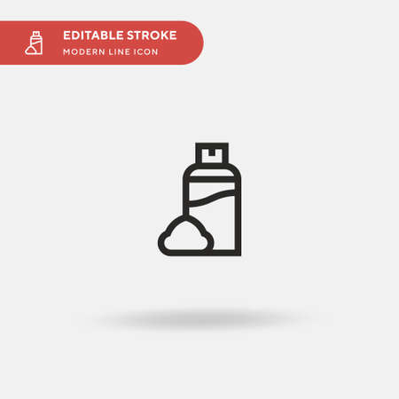 Shaving Cream Simple vector icon. Illustration symbol design template for web mobile UI element. Perfect color modern pictogram on editable stroke. Shaving Cream icons for your business project 矢量图像