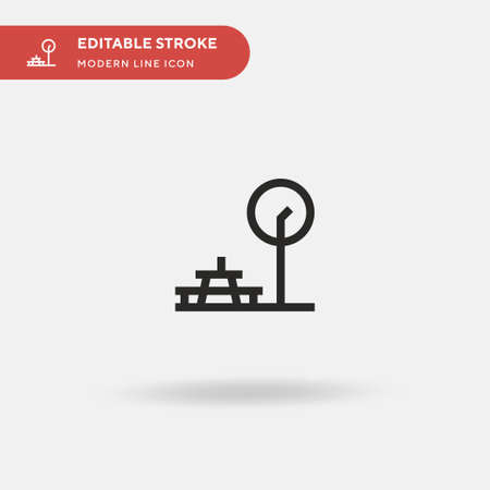 Rest Area Simple vector icon. Illustration symbol design template for web mobile UI element. Perfect color modern pictogram on editable stroke. Rest Area icons for your business project