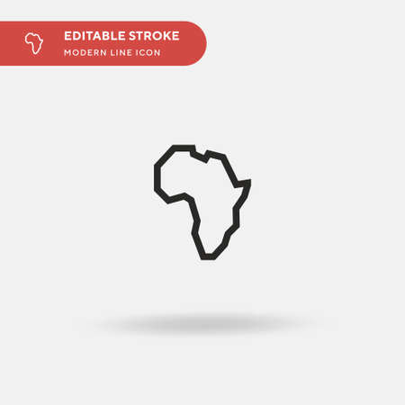 Africa Simple vector icon. Illustration symbol design template for web mobile UI element. Perfect color modern pictogram on editable stroke. Africa icons for your business project Ilustração