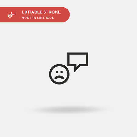 Bad Review Simple vector icon. Illustration symbol design template for web mobile UI element. Perfect color modern pictogram on editable stroke. Bad Review icons for your business project