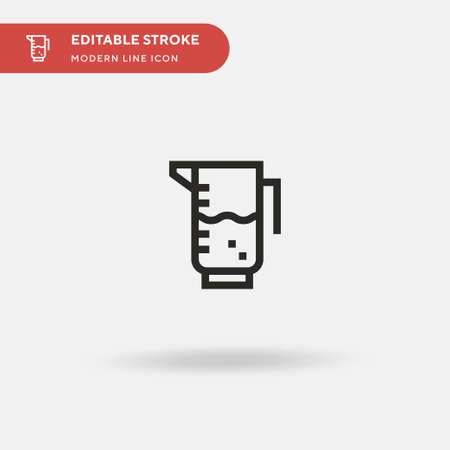 Measuring Cup Simple vector icon. Illustration symbol design template for web mobile UI element. Perfect color modern pictogram on editable stroke. Measuring Cup icons for your business project Ilustrace