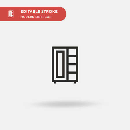 Cupboard Simple vector icon. Illustration symbol design template for web mobile UI element. Perfect color modern pictogram on editable stroke. Cupboard icons for your business project