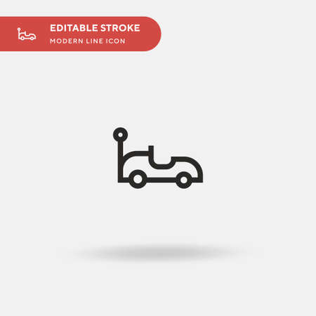 Car Toy Simple vector icon. Illustration symbol design template for web mobile UI element. Perfect color modern pictogram on editable stroke. Car Toy icons for your business project Ilustracja