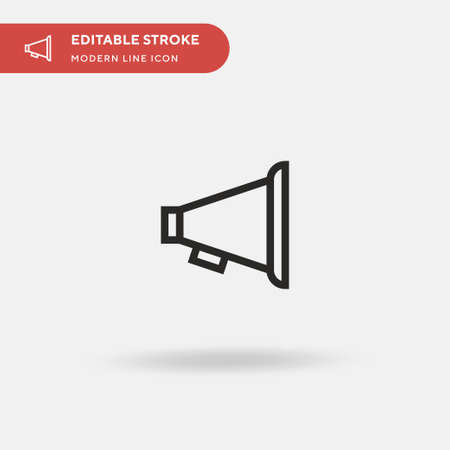 Horn Simple vector icon. Illustration symbol design template for web mobile UI element. Perfect color modern pictogram on editable stroke. Horn icons for your business project Ilustrace