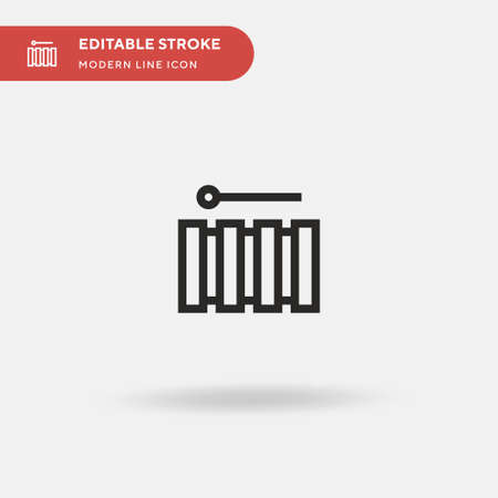 Xylophone Simple vector icon. Illustration symbol design template for web mobile UI element. Perfect color modern pictogram on editable stroke. Xylophone icons for your business project Ilustrace