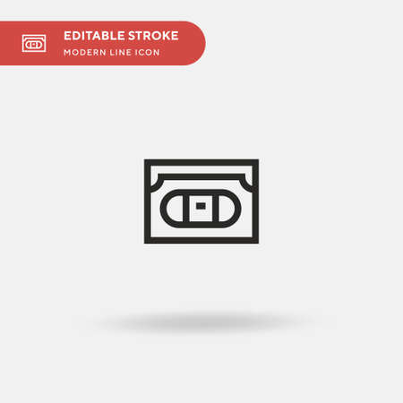 Vhs Simple vector icon. Illustration symbol design template for web mobile UI element. Perfect color modern pictogram on editable stroke. Vhs icons for your business project
