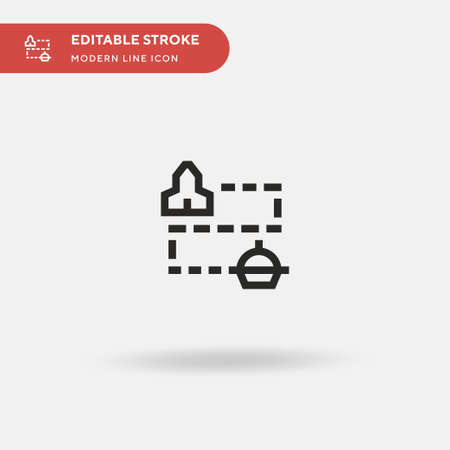 Map Simple vector icon. Illustration symbol design template for web mobile UI element. Perfect color modern pictogram on editable stroke. Map icons for your business project Illustration