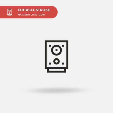 Loudspeaker Simple vector icon. Illustration symbol design template for web mobile UI element. Perfect color modern pictogram on editable stroke. Loudspeaker icons for your business project