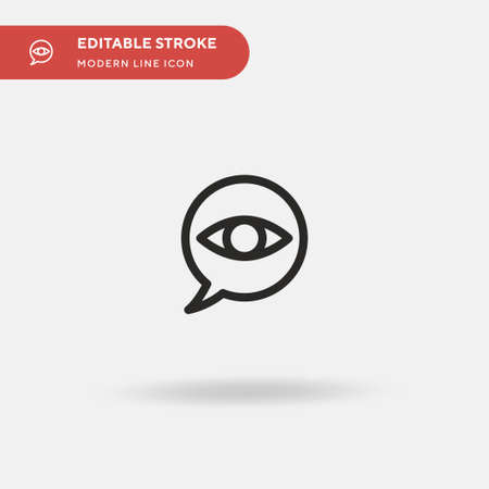 Witness Simple vector icon. Illustration symbol design template for web mobile UI element. Perfect color modern pictogram on editable stroke. Witness icons for your business project