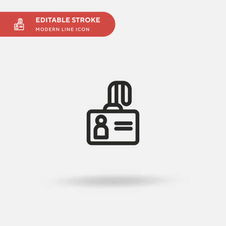 Accreditation Simple vector icon. Illustration symbol design template for web mobile UI element. Perfect color modern pictogram on editable stroke. Accreditation icons for your business project