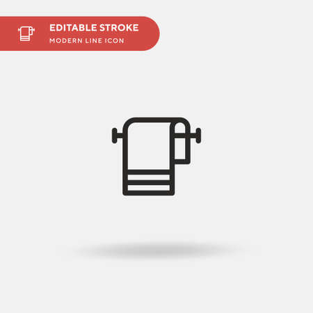 Towel Simple vector icon. Illustration symbol design template for web mobile UI element. Perfect color modern pictogram on editable stroke. Towel icons for your business project Ilustração