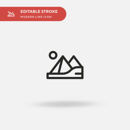 Pyramids Simple vector icon. Illustration symbol design template for web mobile UI element. Perfect color modern pictogram on editable stroke. Pyramids icons for your business project Illustration