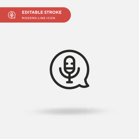 Voicemail Simple vector icon. Illustration symbol design template for web mobile UI element. Perfect color modern pictogram on editable stroke. Voicemail icons for your business project Ilustrace