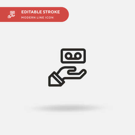 Interview Simple vector icon. Illustration symbol design template for web mobile UI element. Perfect color modern pictogram on editable stroke. Interview icons for your business project