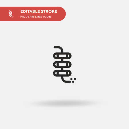 Firecracker Simple vector icon. Illustration symbol design template for web mobile UI element. Perfect color modern pictogram on editable stroke. Firecracker icons for your business project Illusztráció