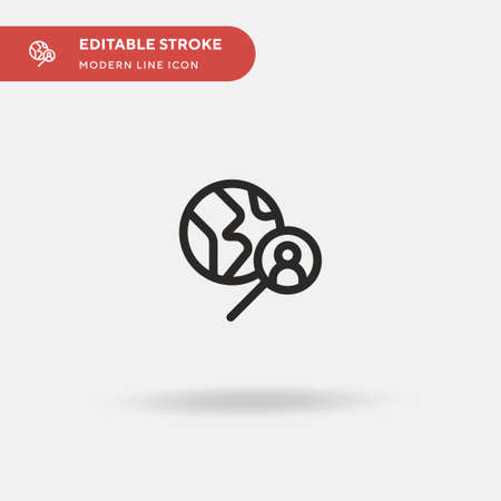 Headhunting Simple vector icon. Illustration symbol design template for web mobile UI element. Perfect color modern pictogram on editable stroke. Headhunting icons for your business project