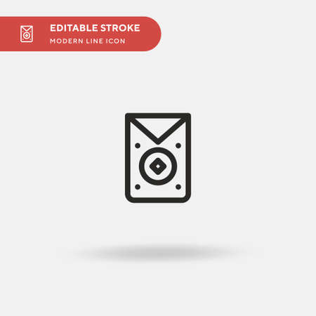 Envelope Simple vector icon. Illustration symbol design template for web mobile UI element. Perfect color modern pictogram on editable stroke. Envelope icons for your business project