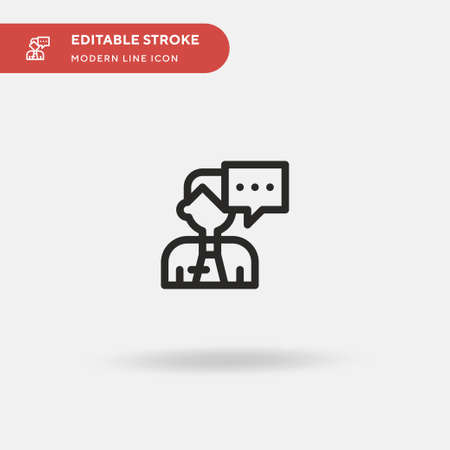 Employee Simple vector icon. Illustration symbol design template for web mobile UI element. Perfect color modern pictogram on editable stroke. Employee icons for your business project