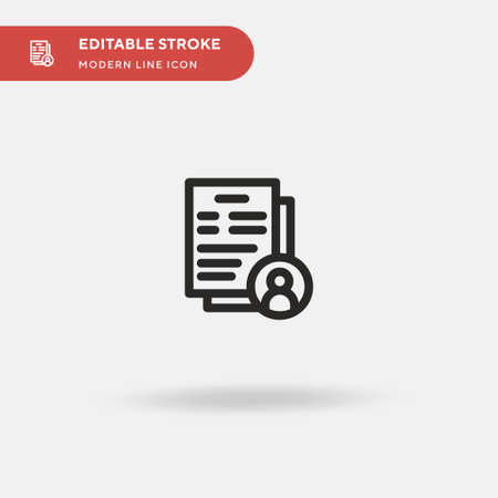 Resume Simple vector icon. Illustration symbol design template for web mobile UI element. Perfect color modern pictogram on editable stroke. Resume icons for your business project