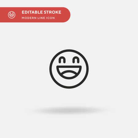 Laugh Simple vector icon. Illustration symbol design template for web mobile UI element. Perfect color modern pictogram on editable stroke. Laugh icons for your business project Ilustração
