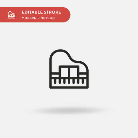 Piano Simple vector icon. Illustration symbol design template for web mobile UI element. Perfect color modern pictogram on editable stroke. Piano icons for your business project Reklamní fotografie - 151127763