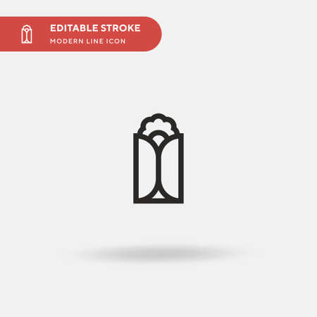 Wrap Simple vector icon. Illustration symbol design template for web mobile UI element. Perfect color modern pictogram on editable stroke. Wrap icons for your business project 일러스트