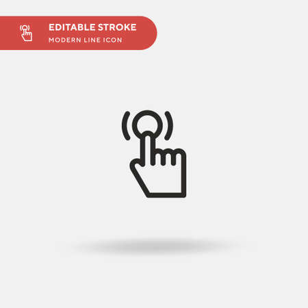 Tap Simple vector icon. Illustration symbol design template for web mobile UI element. Perfect color modern pictogram on editable stroke. Tap icons for your business project