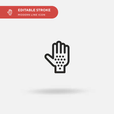 Reaction Simple vector icon. Illustration symbol design template for web mobile UI element. Perfect color modern pictogram on editable stroke. Reaction icons for your business project