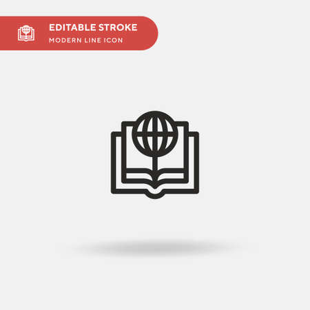 Study Simple vector icon. Illustration symbol design template for web mobile UI element. Perfect color modern pictogram on editable stroke. Study icons for your business project