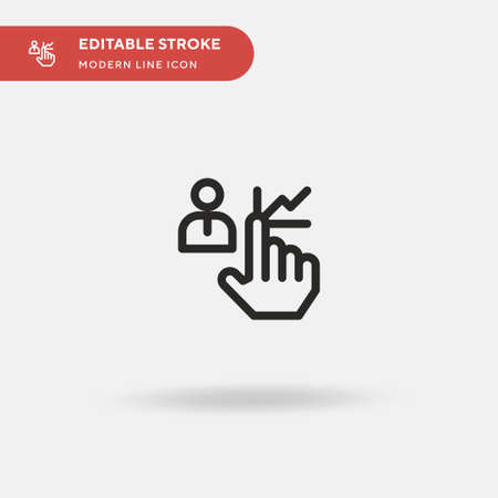 Human Resources Simple vector icon. Illustration symbol design template for web mobile UI element. Perfect color modern pictogram on editable stroke. Human Resources icons for your business project