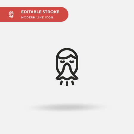 Cold Simple vector icon. Illustration symbol design template for web mobile UI element. Perfect color modern pictogram on editable stroke. Cold icons for your business project