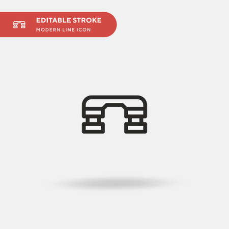 Gym Step Simple vector icon. Illustration symbol design template for web mobile UI element. Perfect color modern pictogram on editable stroke. Gym Step icons for your business project Illustration