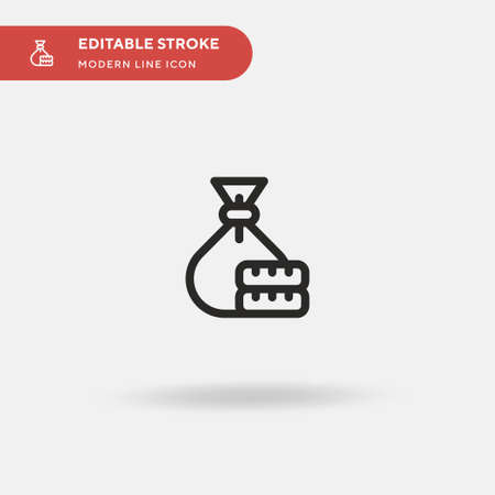Money Bag Simple vector icon. Illustration symbol design template for web mobile UI element. Perfect color modern pictogram on editable stroke. Money Bag icons for your business project