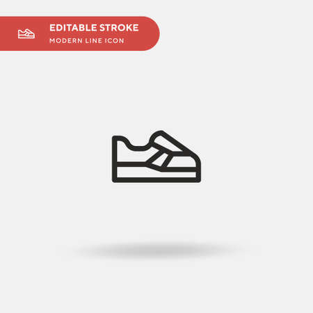 Sneakers Simple vector icon. Illustration symbol design template for web mobile UI element. Perfect color modern pictogram on editable stroke. Sneakers icons for your business project