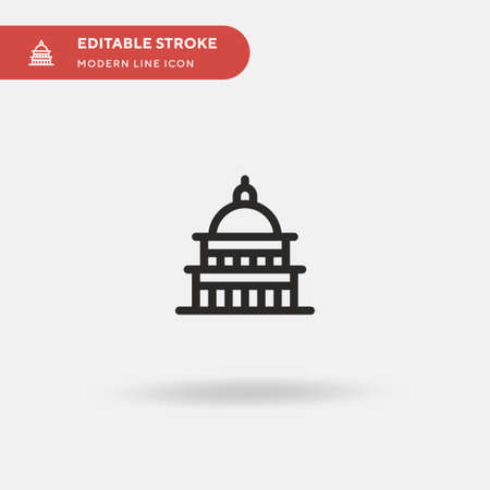 Capitol Simple vector icon. Illustration symbol design template for web mobile UI element. Perfect color modern pictogram on editable stroke. Capitol icons for your business project 免版税图像 - 151130428