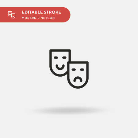 Drama Simple vector icon. Illustration symbol design template for web mobile UI element. Perfect color modern pictogram on editable stroke. Drama icons for your business project  イラスト・ベクター素材