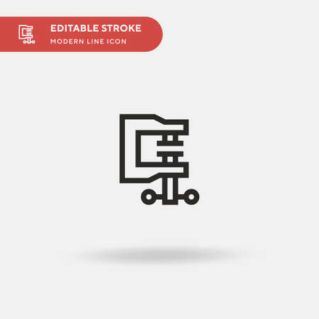 Clamp Simple vector icon. Illustration symbol design template for web mobile UI element. Perfect color modern pictogram on editable stroke. Clamp icons for your business project Vettoriali