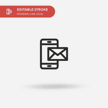 Mail Simple vector icon. Illustration symbol design template for web mobile UI element. Perfect color modern pictogram on editable stroke. Mail icons for your business project Vectores