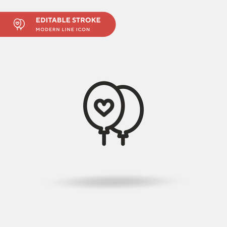 Balloon Simple vector icon. Illustration symbol design template for web mobile UI element. Perfect color modern pictogram on editable stroke. Balloon icons for your business project Çizim