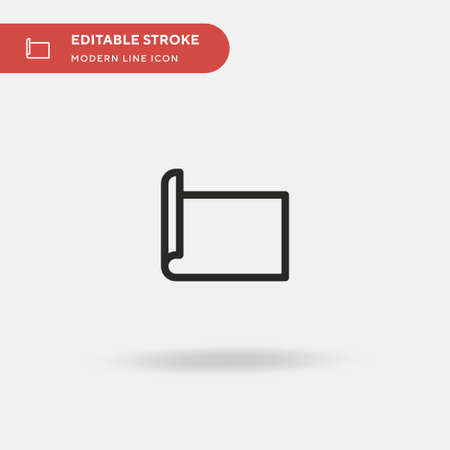 Yoga Mat Simple vector icon. Illustration symbol design template for web mobile UI element. Perfect color modern pictogram on editable stroke. Yoga Mat icons for your business project