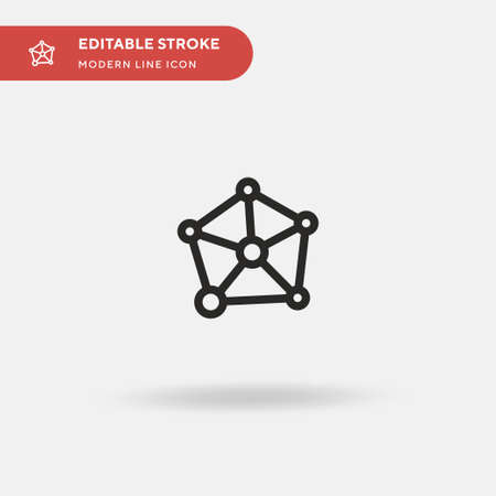 Infographic Simple vector icon. Illustration symbol design template for web mobile UI element. Perfect color modern pictogram on editable stroke. Infographic icons for your business project