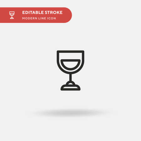 Wine Simple vector icon. Illustration symbol design template for web mobile UI element. Perfect color modern pictogram on editable stroke. Wine icons for your business project 写真素材 - 151130370