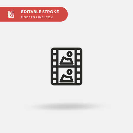 Film Simple vector icon. Illustration symbol design template for web mobile UI element. Perfect color modern pictogram on editable stroke. Film icons for your business project