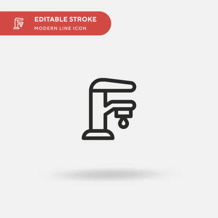 Drop Simple vector icon. Illustration symbol design template for web mobile UI element. Perfect color modern pictogram on editable stroke. Drop icons for your business project