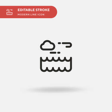Storm Simple vector icon. Illustration symbol design template for web mobile UI element. Perfect color modern pictogram on editable stroke. Storm icons for your business project