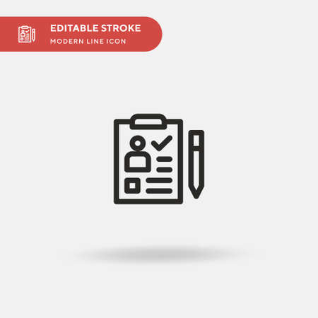 Cv Simple vector icon. Illustration symbol design template for web mobile UI element. Perfect color modern pictogram on editable stroke. Cv icons for your business project Иллюстрация