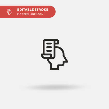 Reviews Simple vector icon. Illustration symbol design template for web mobile UI element. Perfect color modern pictogram on editable stroke. Reviews icons for your business project Иллюстрация