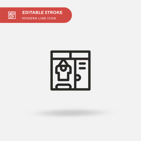 Closet Simple vector icon. Illustration symbol design template for web mobile UI element. Perfect color modern pictogram on editable stroke. Closet icons for your business project
