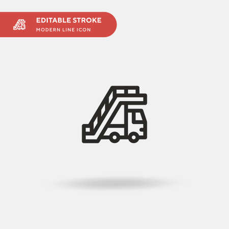Airplane Stairs Simple vector icon. Illustration symbol design template for web mobile UI element. Perfect color modern pictogram on editable stroke. Airplane Stairs icons for your business project