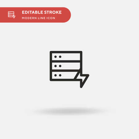 Database Simple vector icon. Illustration symbol design template for web mobile UI element. Perfect color modern pictogram on editable stroke. Database icons for your business project Иллюстрация